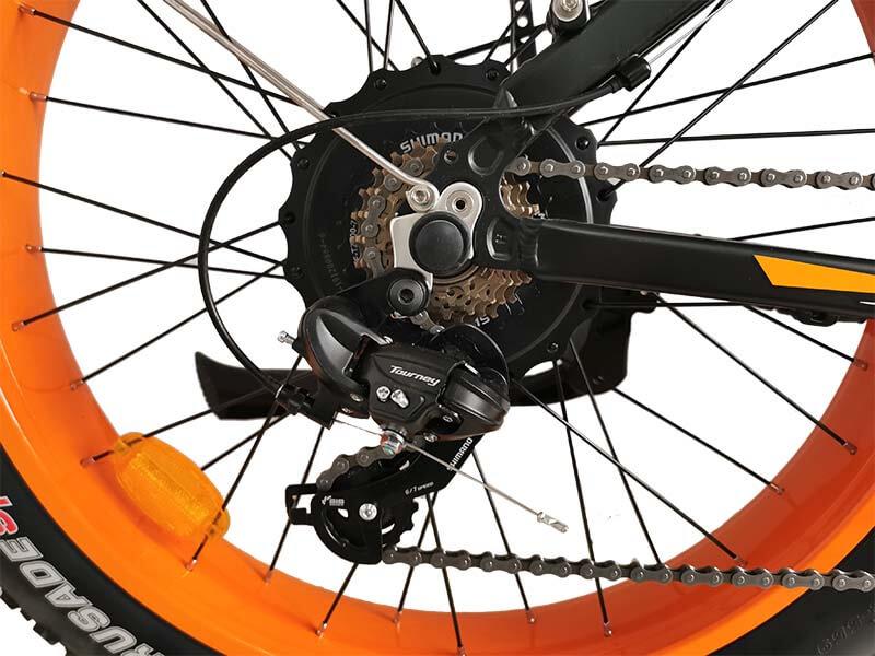 Titan orange wheel